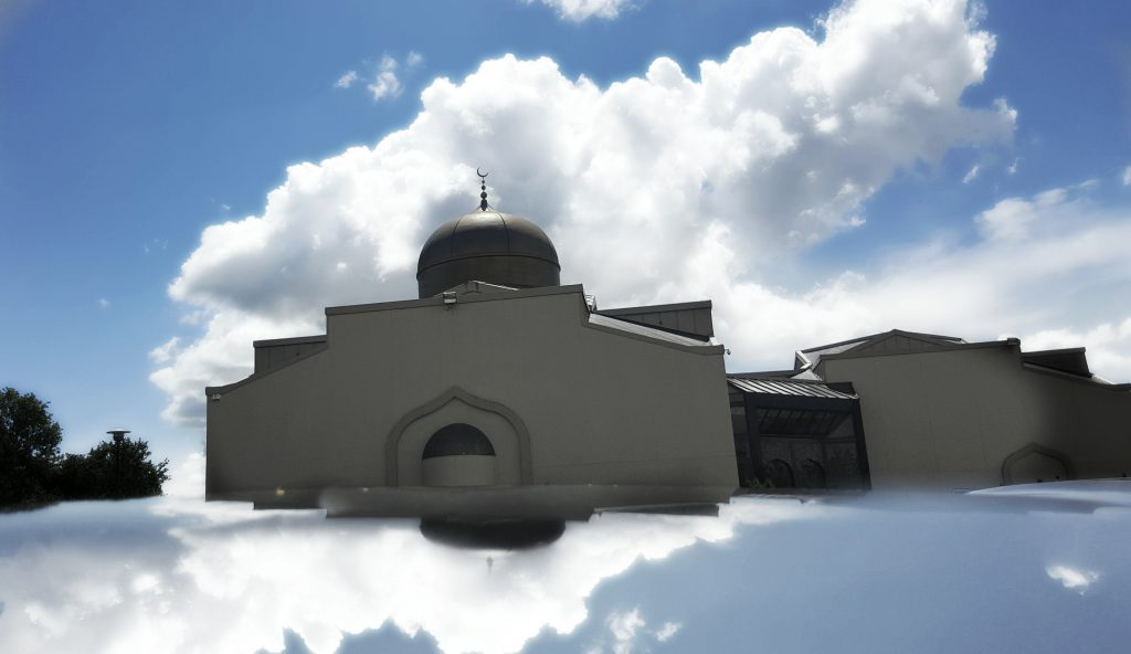 Richmond Masjed with cloud reflection